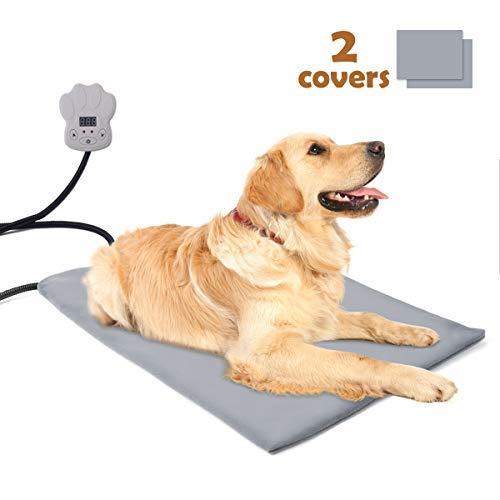 Sotical Heizdecke für Haustiere, Heizmatte Wärmematte Katzen & Hunde Wärmematte/Heizkissen/ für Thermomatte Umweltfreundliche Sicherheit Indoor Bett (Größe(65 * 40cm))