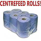PPD 6 Pack 2 Ply Blue Embossed Centre Feed/Towel/Tissue...