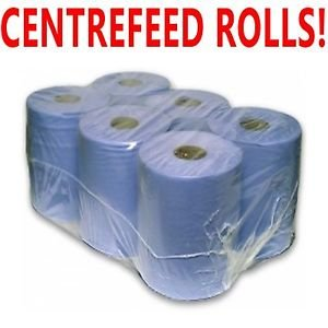ppd-6-pack-2-ply-blue-embossed-centre-feed-towel-tissue-paper-wipe-rolls