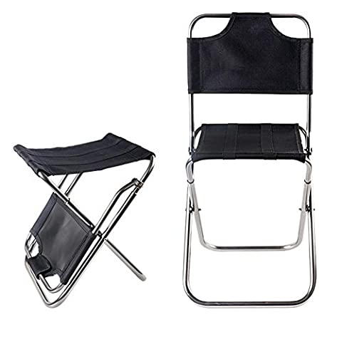 Chaise pliante ultra légère en plein air Tabouret portable voyage Voyage plage barbecue parc cour essentiel , silver