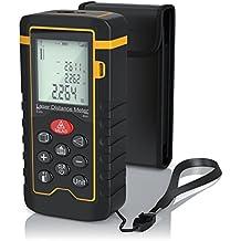 Brandson - Laser Entfernungsmesser | Laser Distanzmessgerät | Messung von Distanz, Flächen, Volumen | bis zu 40m | Laser-Klasse II | Messeinheit in Meter, Zoll, Fuß | LCD-Display mit Hintergrundbeleuchtung