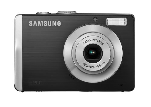Samsung L201 Digitalkamera (10,2 Megapixel, 3-Fach Opt. Zoom, 6,9 cm (2,7 Zoll) Display, Bildstabilisator) schwarz 10.2 Mp, 2.7