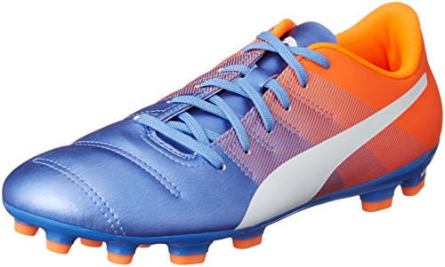 Puma Evopower 4.3 AG, Scarpa da Calcio Man (Football), Blue Yonder/Puma White/Shocking Orange, 11 EU