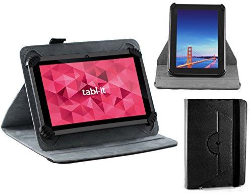 Navitech Schwarz rotierbares bycast Leder Case / Cover / Hülle für das ASUS VivoTab Note 8 (M80TA)