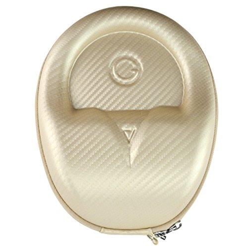 geekria ejb61Ultraskin Compact Kopfhörer Case/Hard Shell Tragetasche Headset/Kopfhörer Reisetasche für Mittelständische Kopfhörer, Fit Beats Ep, Sennheiser Momentum und mehr (Gold) (Tragetasche Beats Mixr)