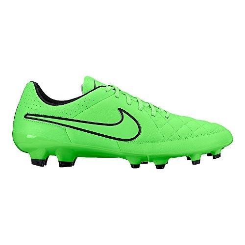 Scarpe Da Uomo Pelle Tiempo Genio Nike In Calcio Fg Nero Verde 6RqwY8RxX