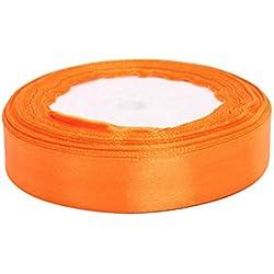 Cdet Cinta hecha a mano diy color rosa regalo de boda de la cinta de embalaje de regalo(Naranja)