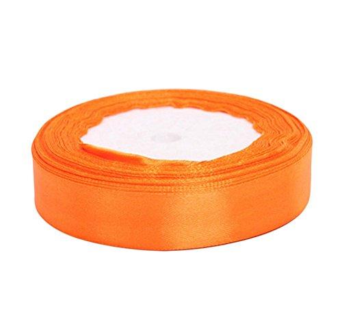 Kentop Dekorationsbänder Grosgrain Ribbon Bogen DIY Band Dekoration Weihnachten 2cm*22m orange