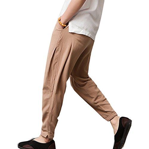 WTUS Pantaloni da uomo da allenamento, fitness, bodybuilding, jogging, in diversi colori Marrone