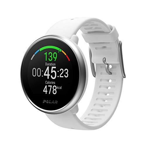 Polar Ignite - Reloj de fitness con GPS integrado, pulsómetro de muñeca, guías de entrenamiento - hombre/mujer- blanco M/L