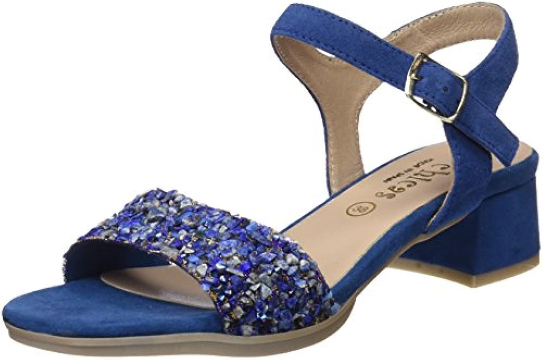 DCHICAS Damen 3857 Piedra Azul Riemchensandalen 2018 Letztes Modell  Mode Schuhe Billig Online-Verkauf