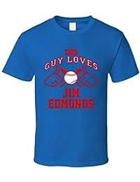 This Guy Loves Jim Edmonds Chicago CHI Baseball Player Classic T Shirt XXXX-L