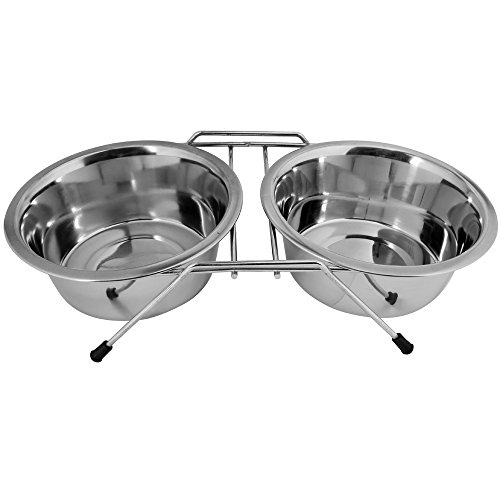 kosma-stainless-steel-double-pet-bowls-on-stand-double-dinner-pet-food-water-bowl-on-stand-255-cm