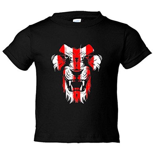 Camiseta niño Athletic león cara colores Bilbao - Negro, 9-11 años