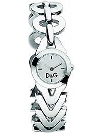 D&G Dolce&Gabbana d&g cactus - Reloj analógico de mujer de cuarzo con correa de acero inoxidable plateada - sumergible a 30 metros