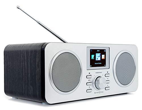 Bennett & Ross Skanderborg DAB+/Internetradio mit Bluetooth (tragbares Stereo-Soundsystem, FM, DAB/DAB+, W-LAN, Bluetooth, AUX IN, USB-Ladefunktion, UPnP, Li-Ion-Akku) Silber/schwarz
