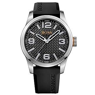 Hugo Boss 1513350 Orange  – Reloj analógico de pulsera para hombre, correa de silicona