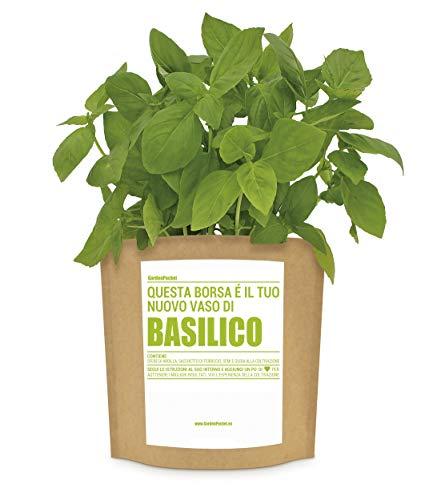 garden pocket - kit di coltivazione basilico - borsa maceta