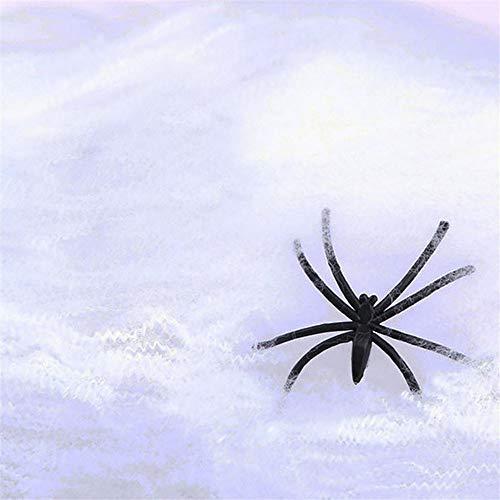 Kostüm Weiße Fan Spitze - Kapian Halloween Deko Set Spinnweben mit Spinnen Spitze Spinnennetz Decke für Kamin Tür Karneval Party Grusel Dekoration