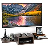 Onlineshoppee TV Entertainment Unit/Wall Set Top Box Stand Shelf (Standard Wenge)