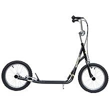 Outsunny - Premium Monopattino Scooter a rotelle 16 pollici Cityroller per bambini e ragazzi, nero