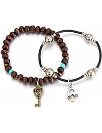 Bolt Leather Bracelet Set (Pack Of 2)