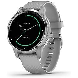Garmin vívoactive 4S - Reloj inteligente con GPS y funciones de control de la salud durante todo el día, color gris