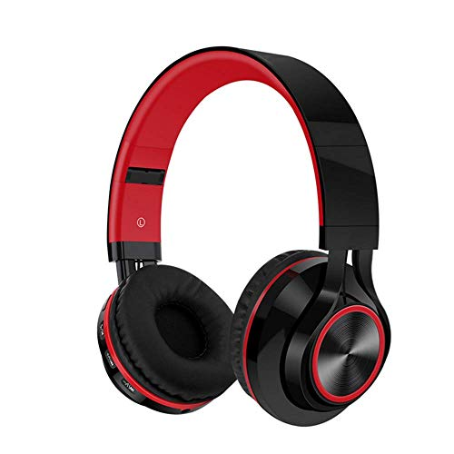 Jingchen Headset Wireless Bluetooth Headset 4.1 with Subwoofer and Pluggable Memory Card and Radio with Bilateral Stereo Unisex -