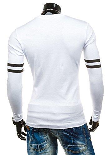 BOLF - Sweat-shirt - Maglione sportivo �?con la stampa �?COMEOR 4244 - Uomo Bianco