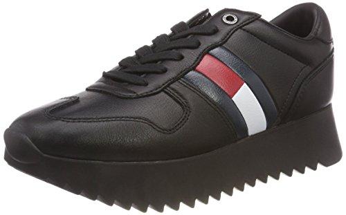 Hilfiger Denim Damen HIGH Cleated Sneaker, Schwarz (Black 990), 40 EU -