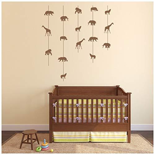 azutura Affe Giraffe Wandtattoo Safari Tiere Wand Sticker Kinderzimmer Baby Wohnkultur verfügbar in 5 Größen und 25 Farben Klein Licht Orange -