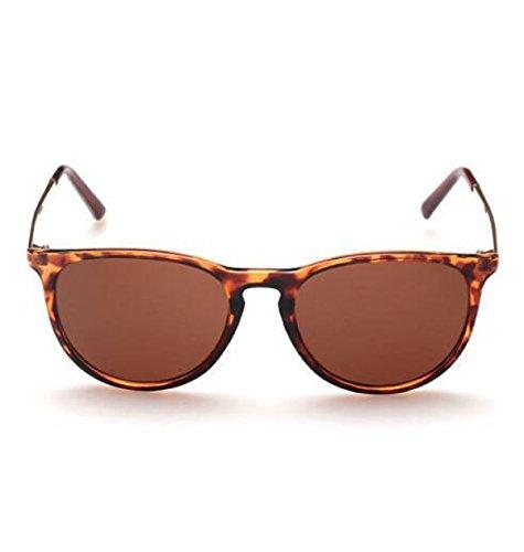 MYLL Mit Dem Absatz Damen-Sonnenbrille Großzügigen Rahmen Der Trend Der Brille (Leopard Rock Retro Sonnenbrille)