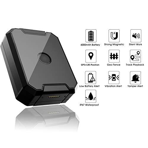 41bV%2B1Y9sdL - Localizador GPS Coche, Lncoon Portátil GPS Tracker Magnético Fuerte 6000mAh con GPS en Tiempo Real de Rastreo y Alarma Antirrobo para Coche Motocicleta Camiones Niños -Tarjeta SIM de Datos Incluida