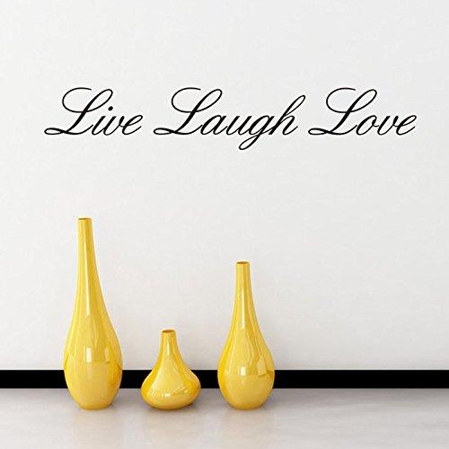 Preisvergleich Produktbild Live Laugh Love Zitat Englische Wörter Wandtattoo Home Decor 10,2x 55,9cm