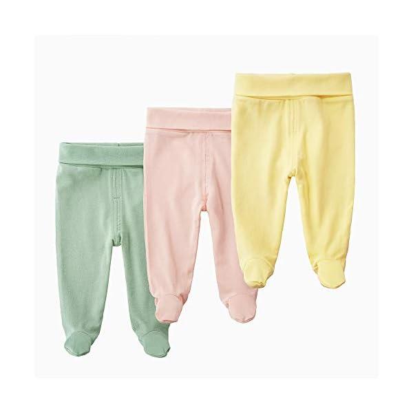 EBILUN Niños Algodón Cintura Alta Pantalones de pie, Leggings Casuales Medias elásticas Pantalones Pantimedias… 1