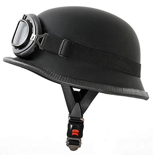 YNWJ Casco Moto in Stile Wehrmacht con Dimensione Occh