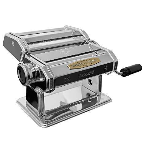 Tradizioni italiane® cuor di pasta macchina per la pasta fresca, macchina pasta fatta in casa, 3 tipi di pasta fresca, macchina lasagne fettuccine tagliolini, acciaio cromato
