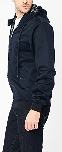 Harrington Herren Regenmantel Harrington Hooded Blau - Blau (Marineblau)
