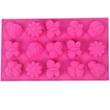 YOKIRIN® forma del molde de silicona Insectos mariposas de accesorios para la decoración de la torta de chocolate oscuro moldes azúcar Pasteles moldes de jabón