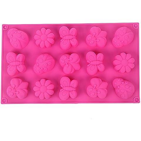 YOKIRIN Forma Stampo in Silicone di Insetti Farfalle Accessorio per la Decorazione Della Torta del Fondente di Cioccolato stampi Zucchero Torte Stampi Sapone per uso artigianale