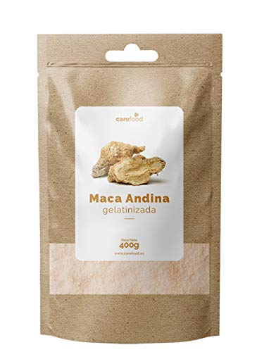 Maca Andina Gelatinizada en Polvo Orgánica 400gram Carefood | Ecológica Procedente de Perú| Superalimento Ecológico