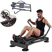 Ffitness FLMD412N - Máquina de Remo Profesional para Entrenamiento en casa, Resistencia hidráulica, Fitness, Cardio Total Body Trainer Crunch, Negro, Talla única