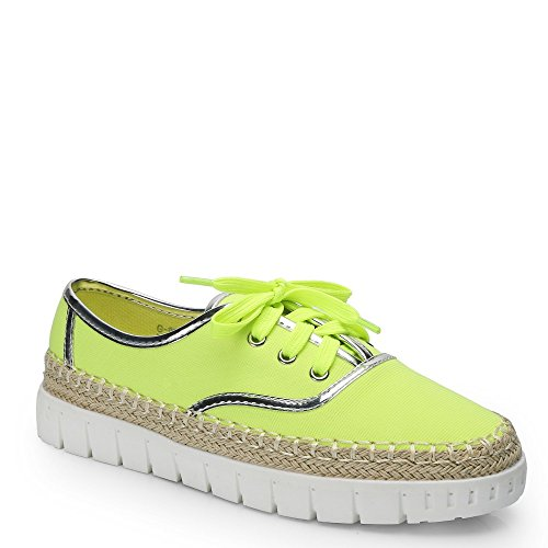 Style Shoes Ideal Espadrille sneakers Candie con suola in gomma Giallo (giallo)