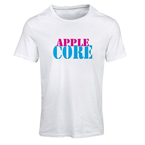 N4248F Frauen T-Shirt Apple Core (Small White Blue) - Imac G4 Computer