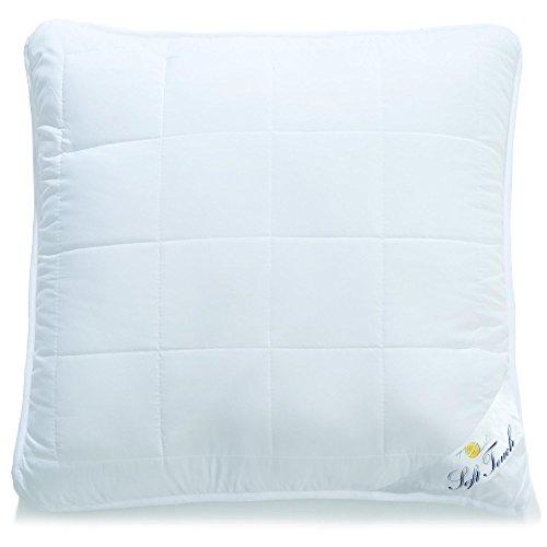 aqua-textil Soft Touch, Kopfkissen 80 x 80 cm, allergiker geeignete Kissen mt Reißverschluß, Kochfest Atmungsaktiv Öko-Tex, 0010665