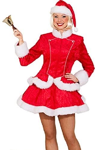 Damen sexy Miss Santa Mrs Clause Weihnachten Neuheit Noel Festlich Lustiges Kostüm Outfit - Rot, UK 16 (EU - Mrs Santa Kostüm