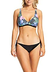 Zoggs Women's Mystique Padded Foam Cup and Adjustable Strap Bikini Top