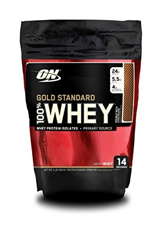 Optimum Nutrition Gold Standard 100% Whey Protein Powder - 450 g, Double Rich Chocolate