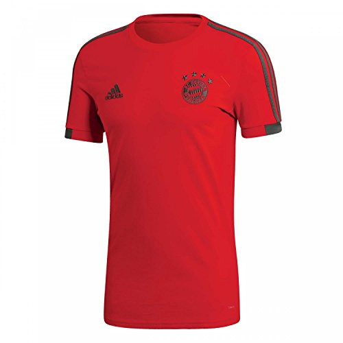 adidas Herren 18/19 FC Bayern T-Shirt, red/Utility ivy, 2XL -