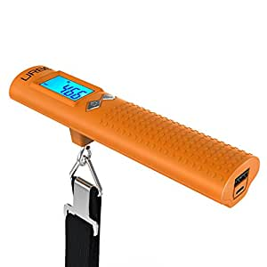 Urbo 3-in-1 Digital Luggage Scale with Built-in LED Flashlight and Rechargeable Power Bank for Apple iPhone 6s / 6s Plus, iPad Air 2, iPad Pro, iPad Mini, Samsung Galaxy Note Series, S Series & Edge Models, LG G4 / G5, Google Nexus, and Other iOS and Android Devices